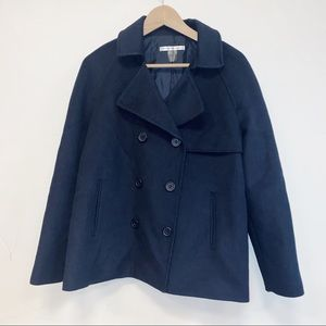PETER NYGARD Navy Wool Coat - Size 8
